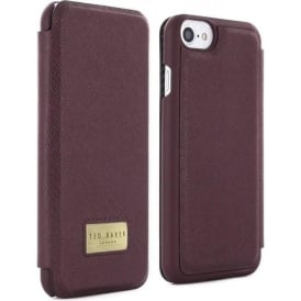 Case for Apple iPhone 7 Credit Card Slot Folio Airies Oxblood