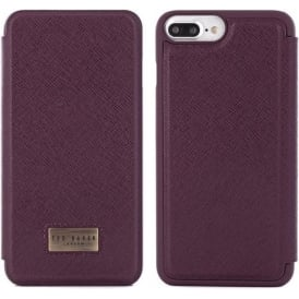 Case for Apple iPhone 7 PLUS Credit Card Slot Folio Airies Oxblood