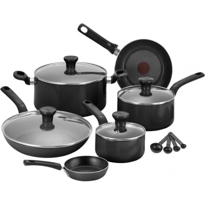 Tefal Excite Aluminium 7pc Pan Set, Black