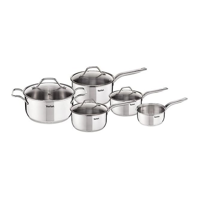 Tefal Intuition Stainless Steel 5pc Induction Pan Set