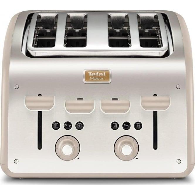 Tefal Maison 4 Slice Toaster, Oatmeal Grey