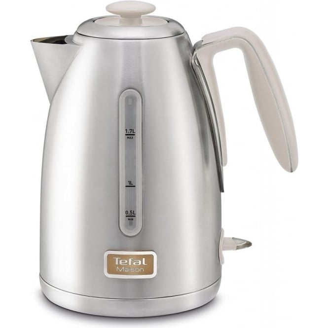 Tefal Maison Kettle, Stainless Steel/Oatmeal Grey