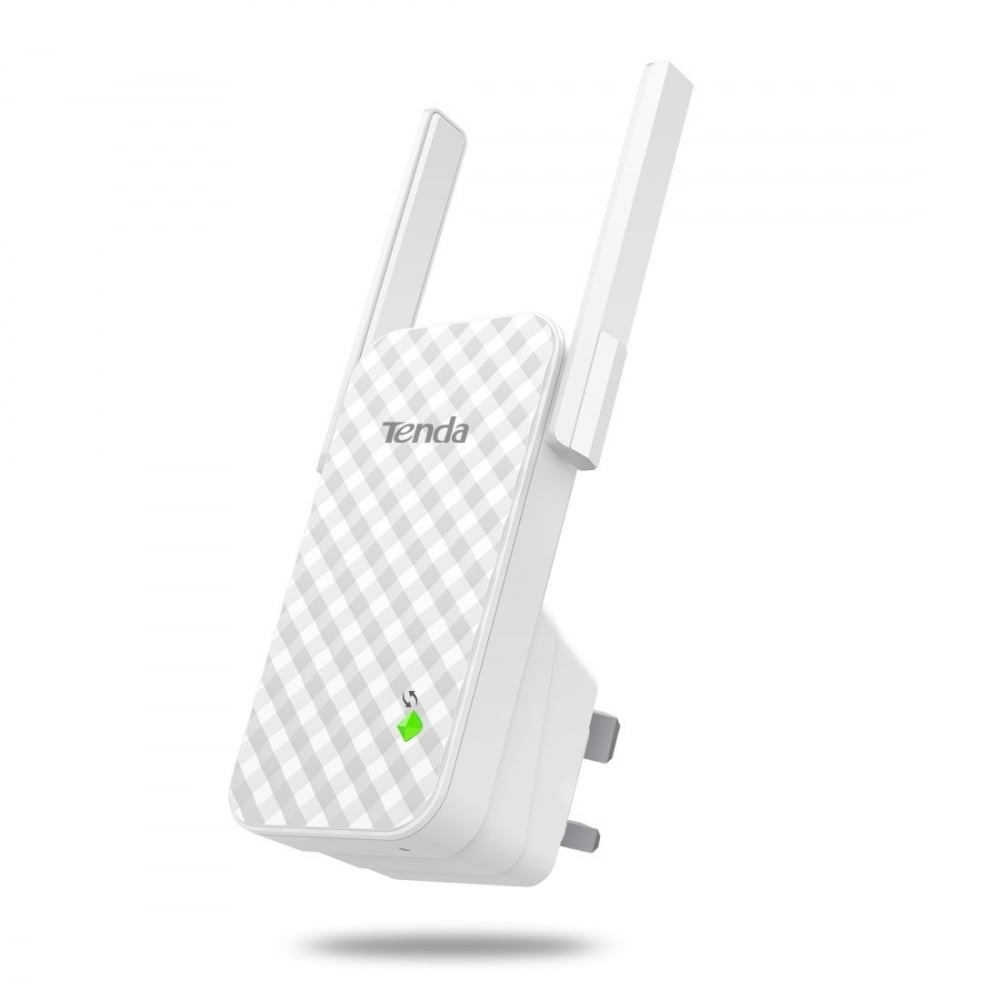 Tenda A9 300 Mbps Universal Wall Plug WiFi Booster WiFi Range Extender with  Dual Antenna