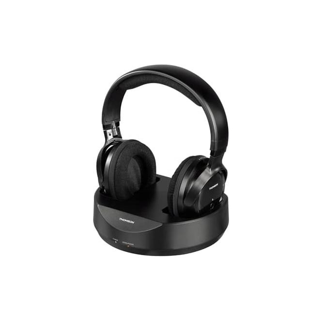 Thompson WHP3001BK Wireless Headphones for TVs & MP3 Players, Black