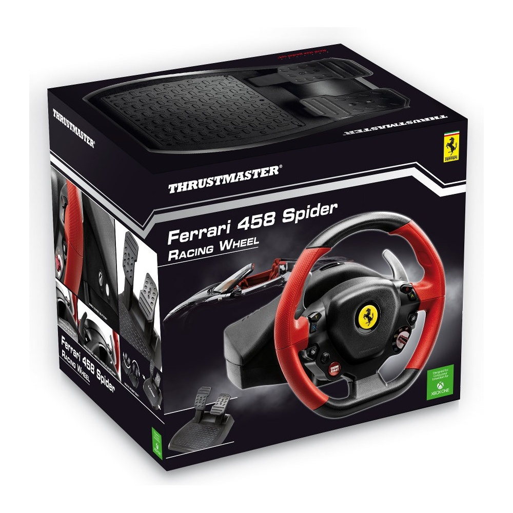 thrustmaster 4460105 ferrari 458 spider racing wheel xbox. Black Bedroom Furniture Sets. Home Design Ideas