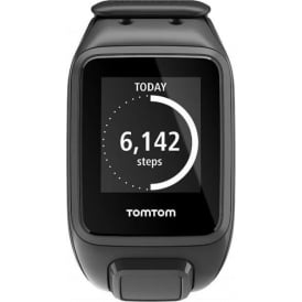 1RE000201 Spark GPS Multi-Sport Fitness Watch - Large Strap, Black