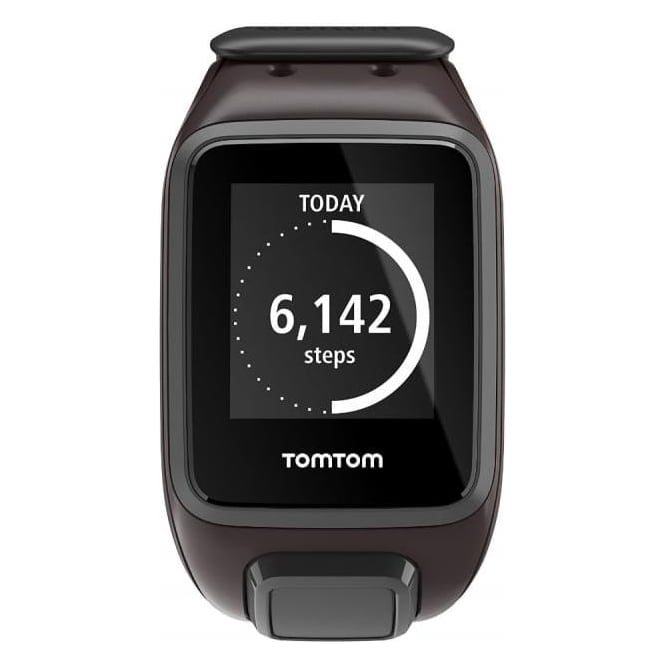 TomTom Spark GPS Multi-Sport Fitness Watch with Music and Heart Rate Monitor, Large Strap, Ale Brown