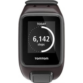 Spark GPS Multi-Sport Fitness Watch with Music and Heart Rate Monitor, Large Strap, Ale Brown
