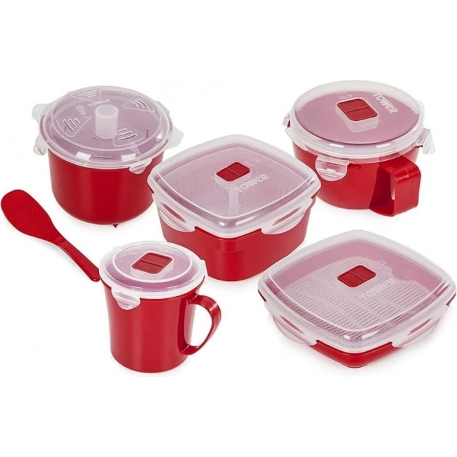 Tower 5 piece Microwave Set