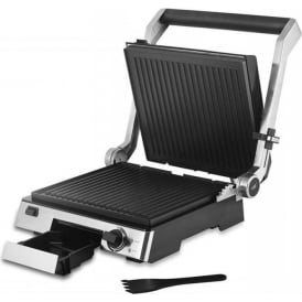 Cerastone T27012 Family Health Grill and Panini Maker with Non Stick Ceramic Coating, 2000W, Stainless Steel