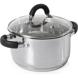 Essentials 24cm Stainless Steel Casserole Pan
