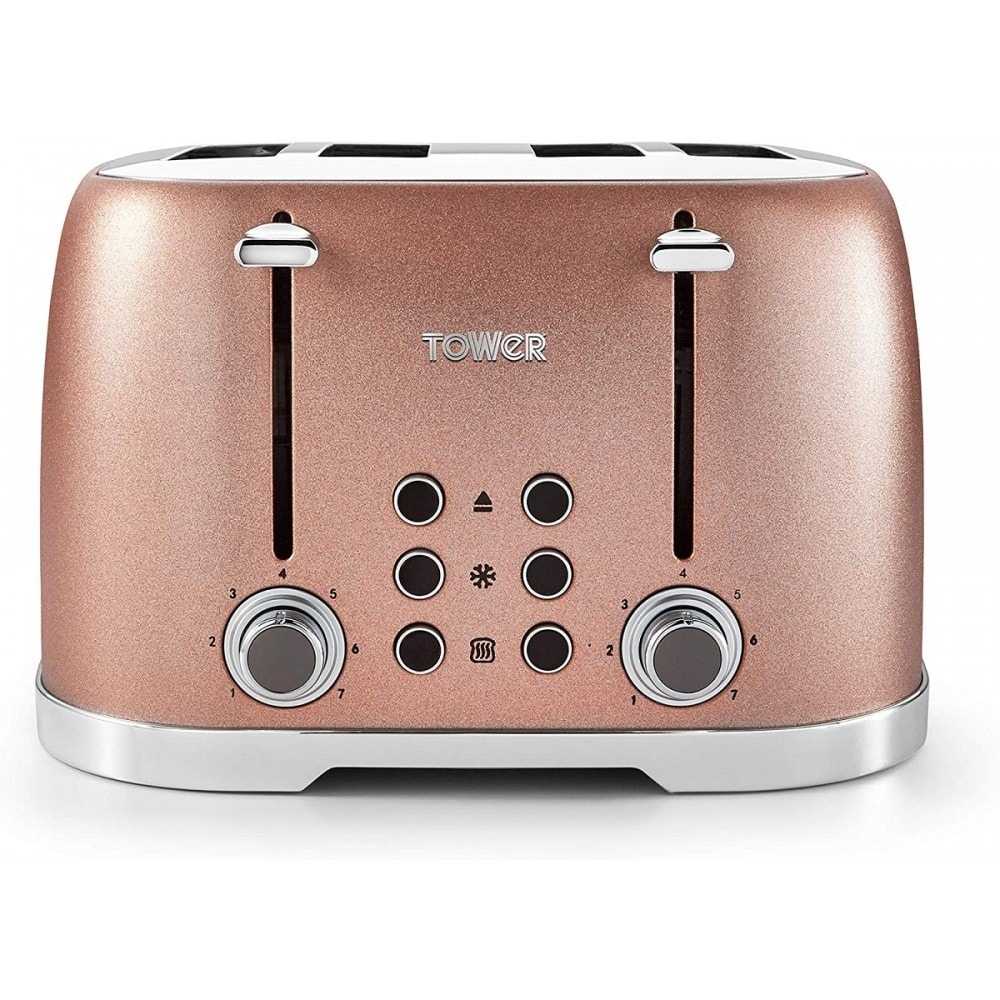 Tower Glitz 4 Slice Toaster Blush Pink Small Appliances From Powerhouse Je Uk