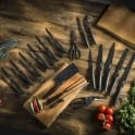Tower Stone Coated Knife Set, Stainless Steel, Black, 24-Piece