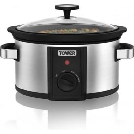 T16010 3.5L Slow Cooker, Stainless Steel
