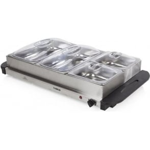 T16016 Buffet Server, Stainless Steel