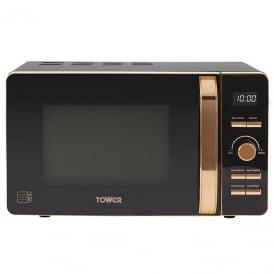 T24021 Rose Gold Digital Microwave, 20 Litres, Black