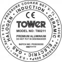 Tower T80211 Pressure Cooker, 7L