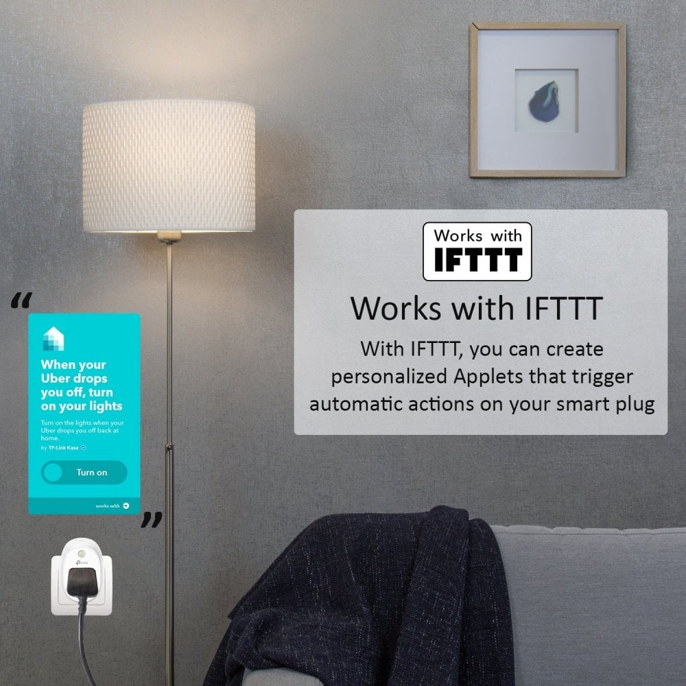 TP-Link WiFi Smart Plug - Compatible with Amazon Alexa, IFTTT and Google  Assistant