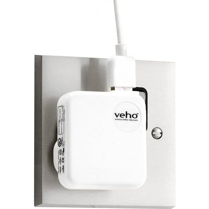 Veho Mains USB Charger for iPod/iPhone/iPad/USB Charged Devices