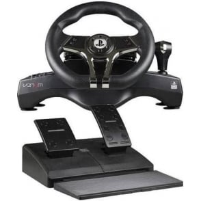 PS4 Racing Steering Wheel with Pedals