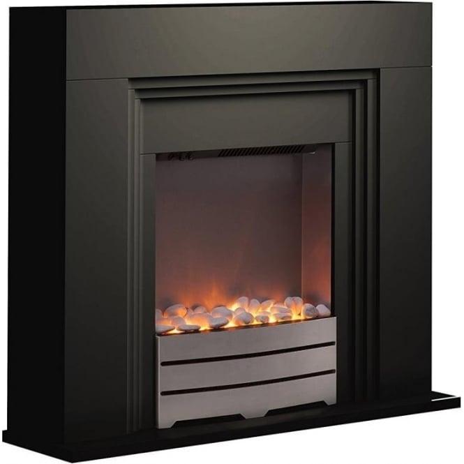 Warmlite WL45023B Bluetooth Fireplace Suite, 2000W, Black
