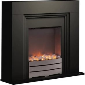 WL45023B Bluetooth Fireplace Suite, 2000W, Black