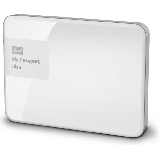 Western Digital My Passport Ultra Premium Portable Hard Drive 1 TB, White