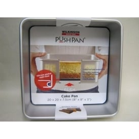 Aluminium Square Push Pan Cake Tin 20cm