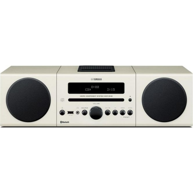 Yamaha MCRB142W Micro HiFi 30W CD/FM/DAB+ iPod-Dock Bluetooth - White