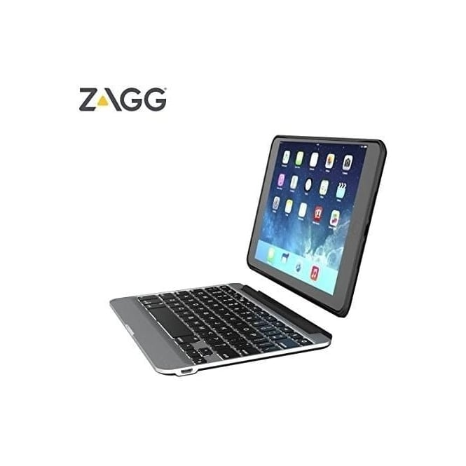 Zagg iPad Mini 4 Ultra-Slim Backlit Tablet Bluetooth Keyboard & Detachable Case