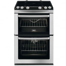 60cm Electric Cooker with Double Oven and Four Induction Hob Zones