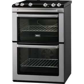 Energy Efficient Freestanding 60Cm Double Electric Cooker And Hob, Stainless Steel