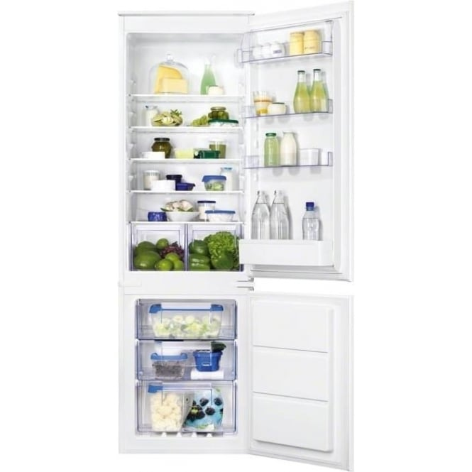 Zanussi ZBB28651SA Frost Free Integrated 56cm A+ Fridge Freezer, White