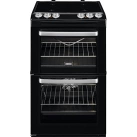 ZCV554MN Freestanding 55cm Double Electric Cooker with Ceramic Hob