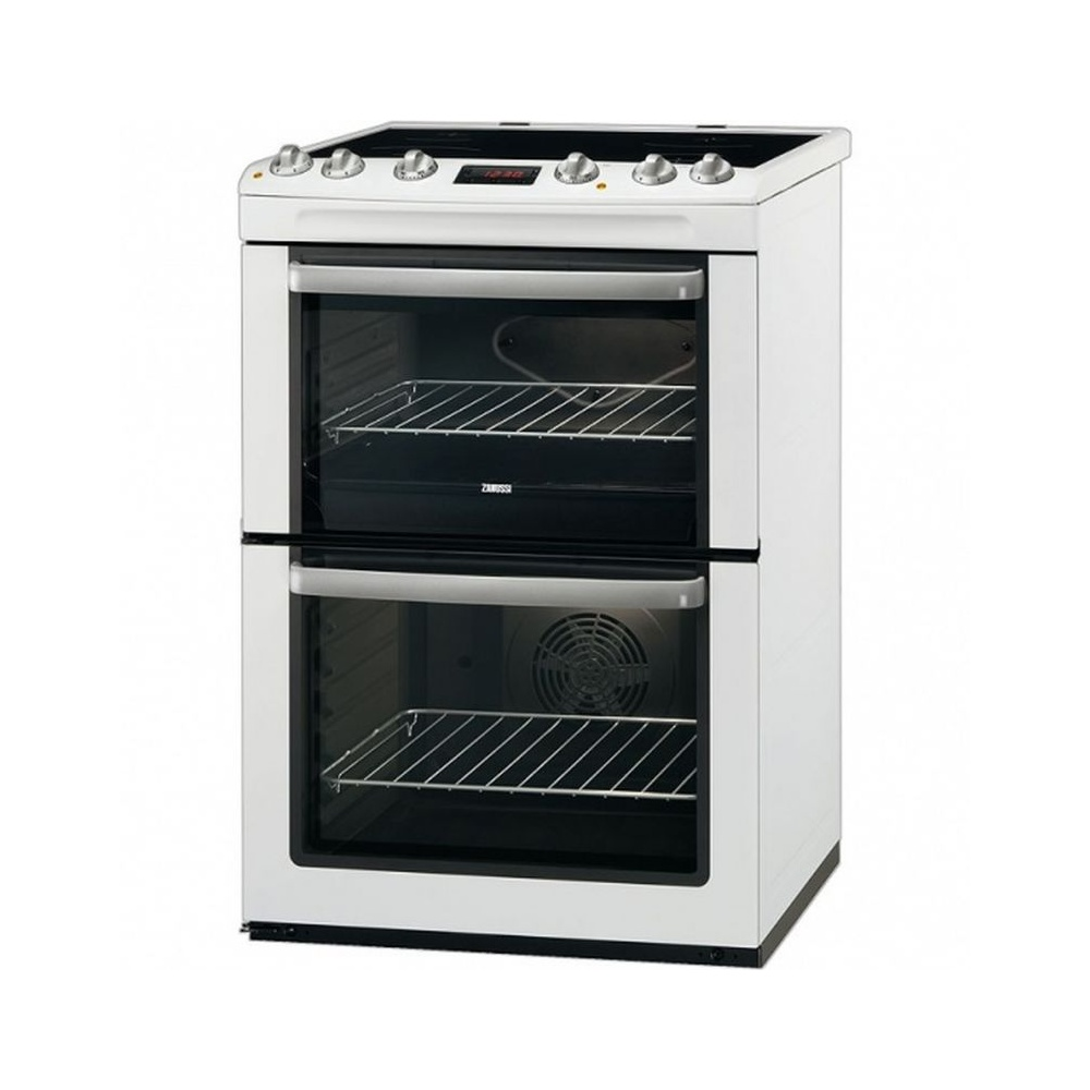 Home Electric Cooker ~ Zanussi zcv mwc cm electric cooker with double oven
