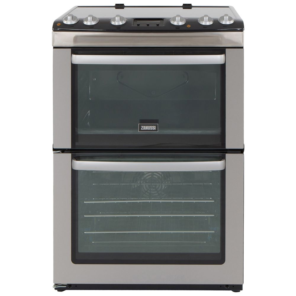 Home Electric Cooker ~ Zanussi zcv mxc cm electric cooker with double oven