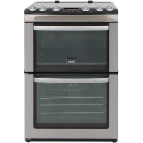 ZCV667MXC 60cm Electric Cooker with Double Oven and Ceramic Hob, Stainless Steel