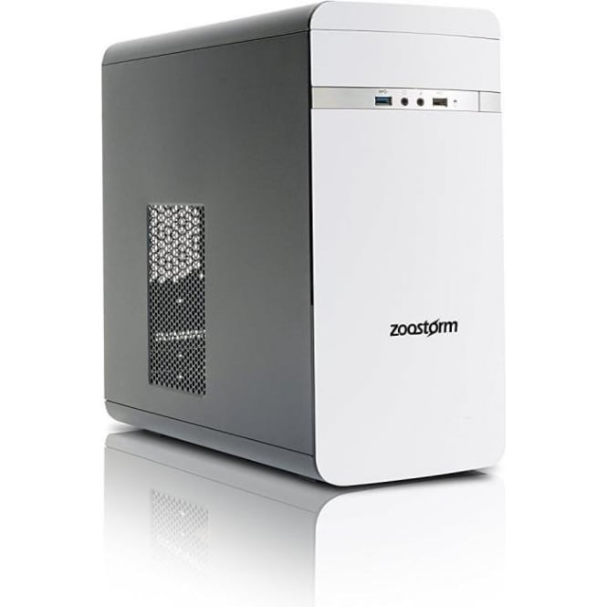 Zoostorm Evolve Intel Core i3-7100, 8GB RAM, 1TB HDD, Win 10 Home Desktop PC, White