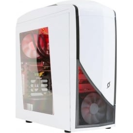 StormForce Glacier Gaming Desktop PC - Intel Core i5-6400 2.7 GHz, 16GB RAM, 1TB HDD, 128GB SSD, NVIDIA GeForce GTX 1070 Dedicated Graphics, Windows 10